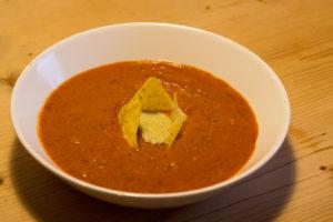 Mexikanische Paprika-Bohnen-Suppe