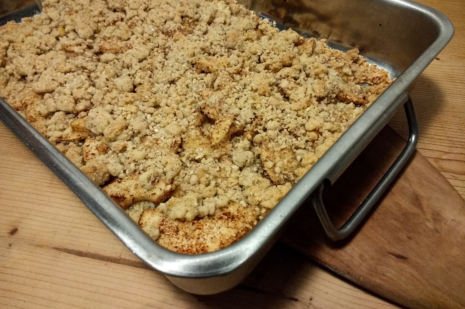 Apple Crumble - die geniale Apfel-Streusel Kombination