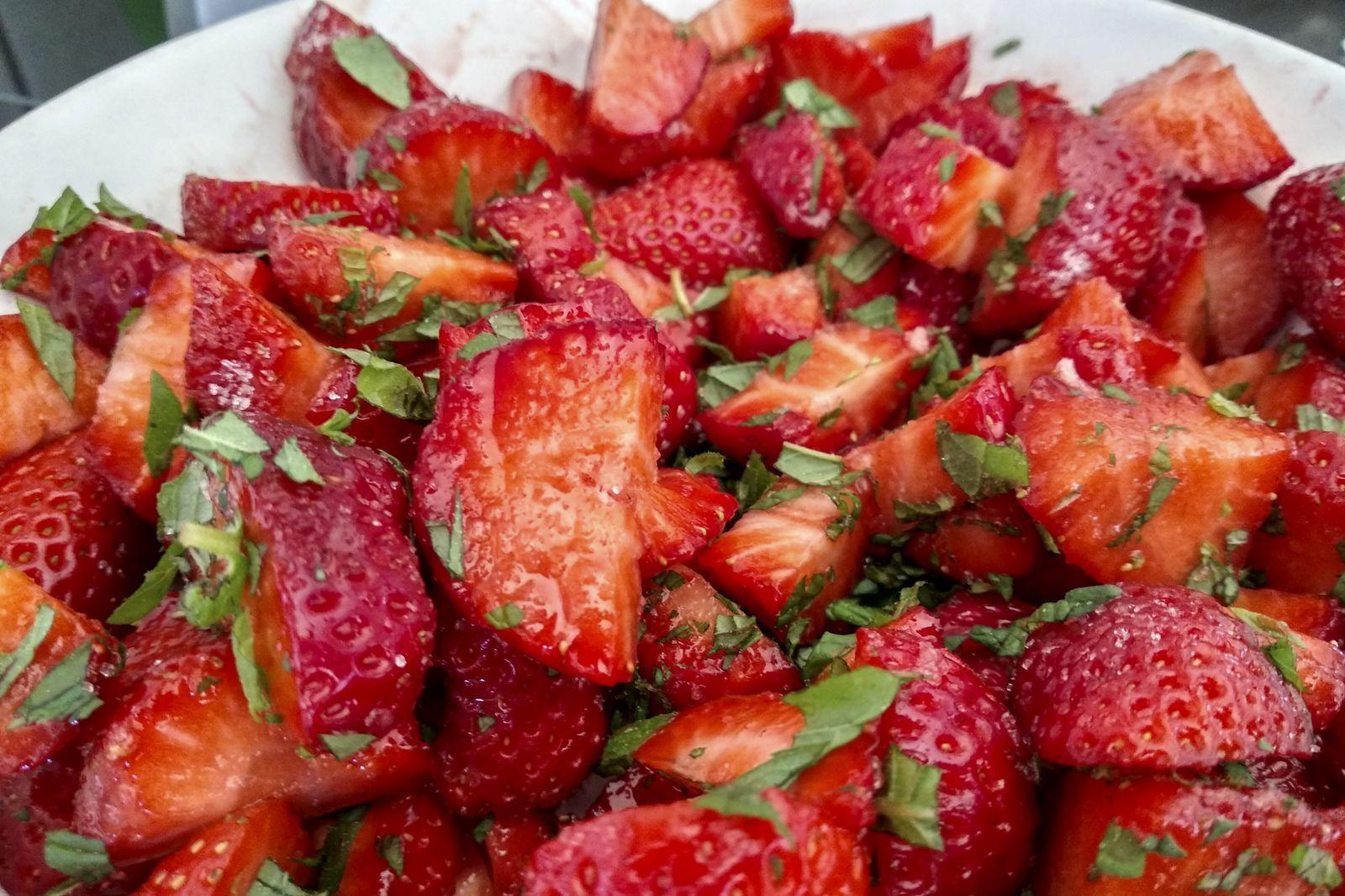 Die Minz-Erdbeeren