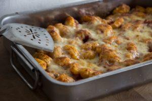 Überbackene Gnocchi in Tomatensauce