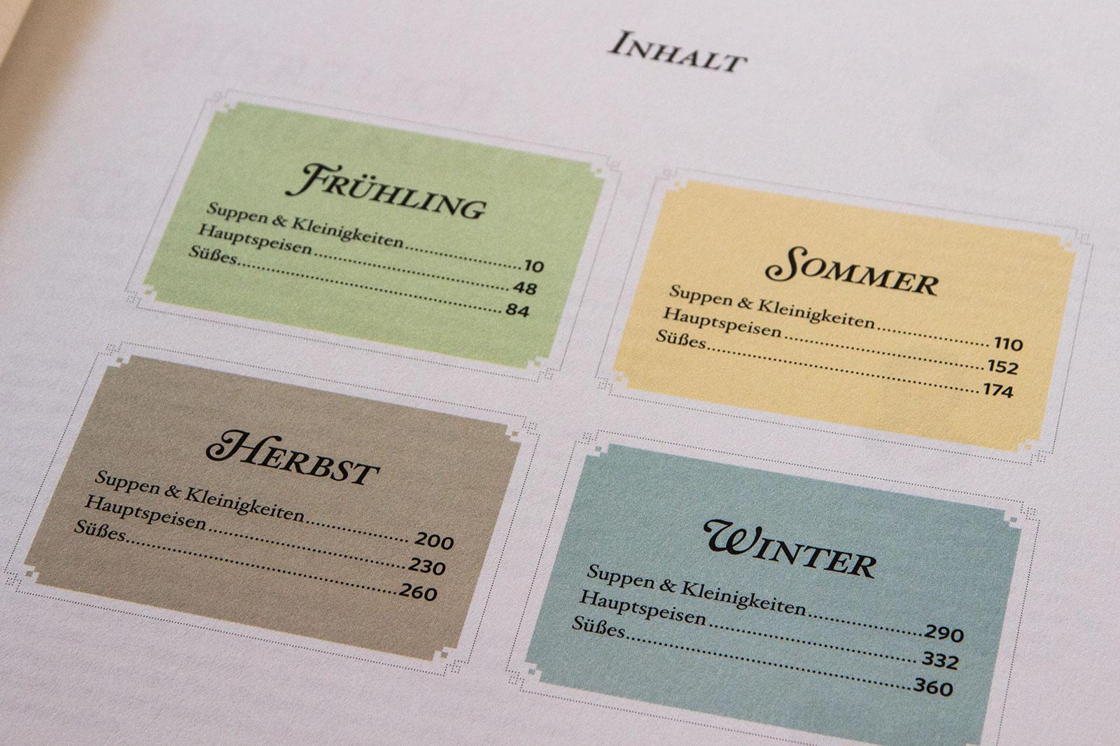 Die Saisonale Einteilung des Buches