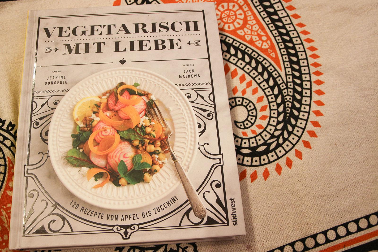 Das Titelbild vom Vegetarisch mit Liebe