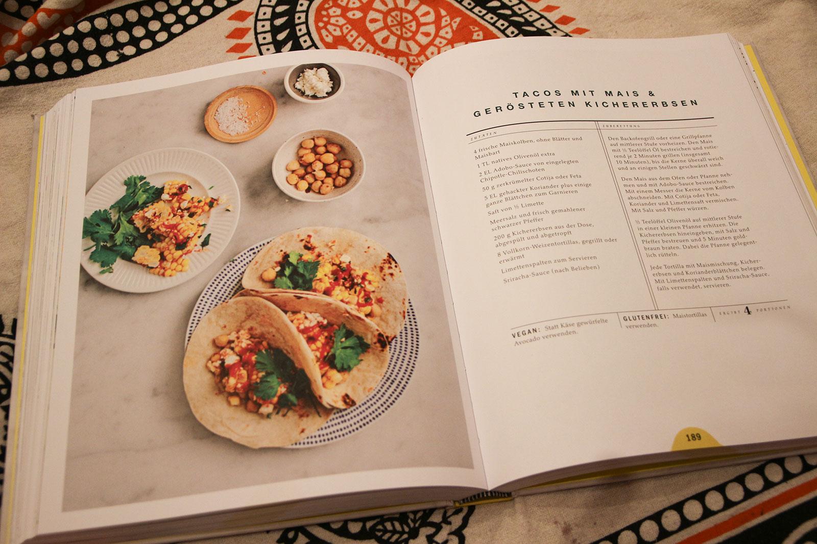 Eine typische Seite des Kochbuchs